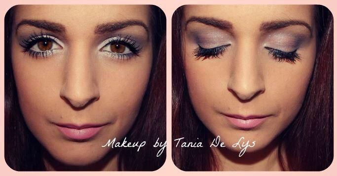 Light pink and purple makeup
