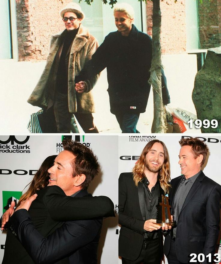 Robert Downey Jr & Jared Leto #Bromance