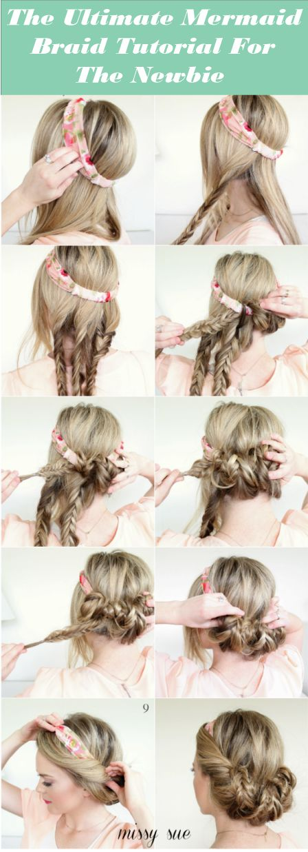 Mermaid Braid hairstyle is the classy and trendy hairstyle that women of every age fancy. Even Mermaid hairstyle is also popular among children with long hair.  This article will give you a complete 'know how' of these spectacular braid which is the newest thing in hair and going all the rage this season!Discover more: Mermaid Braid Tutorial step by step, Mermaid Braid Tutorial diy, Mermaid Braid Tutorial simple.