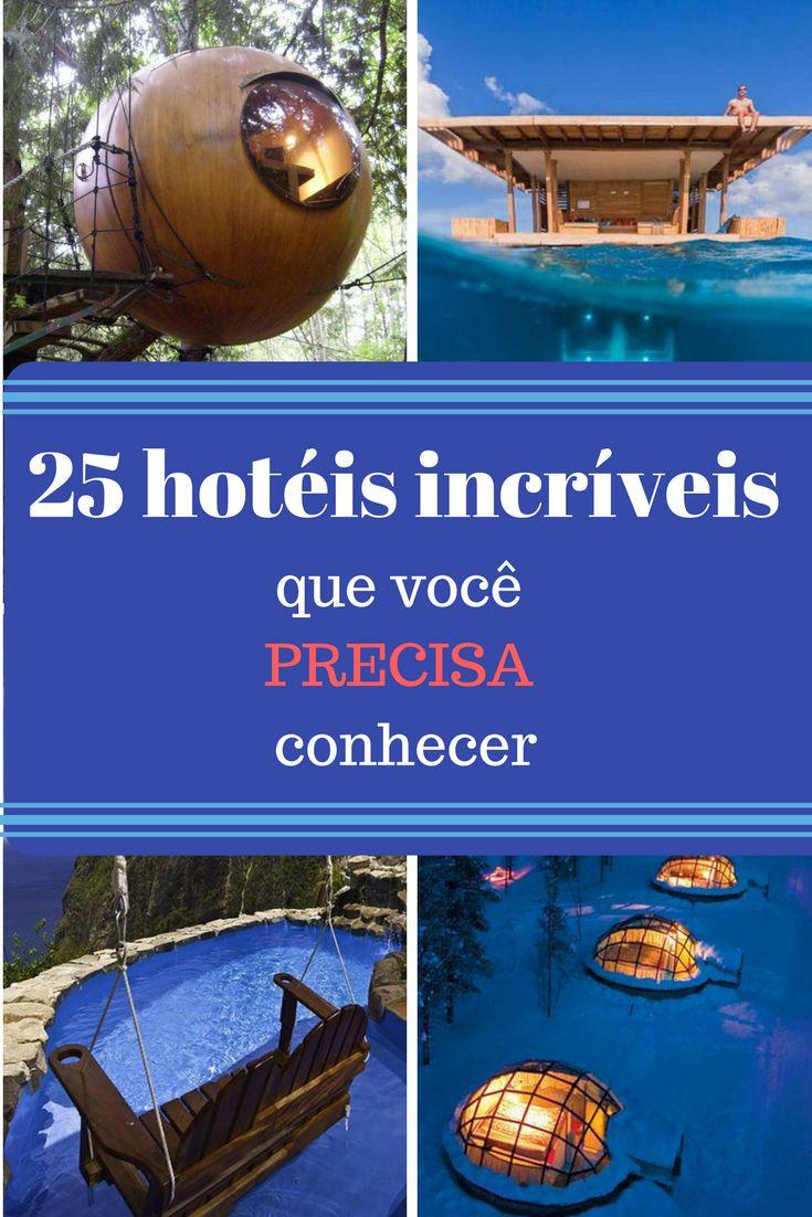 25 hotéis incríveis que você precisa conhecer pelo mundo. Des quartos subaquáticos a hotéis em que elefantes e girafas fazem companhia aos hóspedes, tem de tudo!