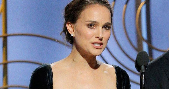 Natalie Portman Calls Out Golden Globes for All-Male Director Nominees -- Natalie Portman wasn't okay with the fact that only males were nominated in the feature film director category at the 2018 Golden Globes. -- http://movieweb.com/natalie-portman-golden-globes-all-male-director-nominees-videos/
