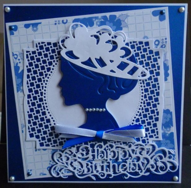 Card made using Millinery dies