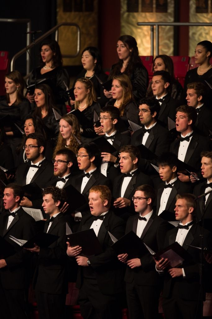The University Chorale performs with the Boston Pops during the concert