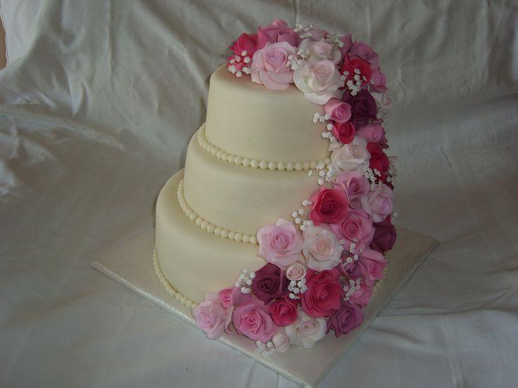 svatební dort s růžemi cake wedding