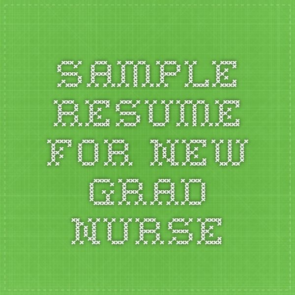 The 25+ best New grad nurse ideas on Pinterest New nurse - nursing new grad resume