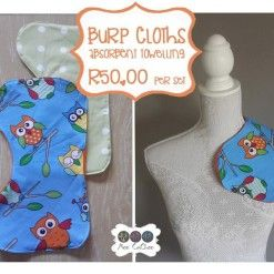 Burp cloth owl blue #handcrafted #shoponline #burpcloth #babyessential #mommy #baby #moocachoo