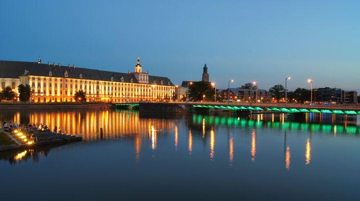 Wrocław, Uniwersytet wieczorem