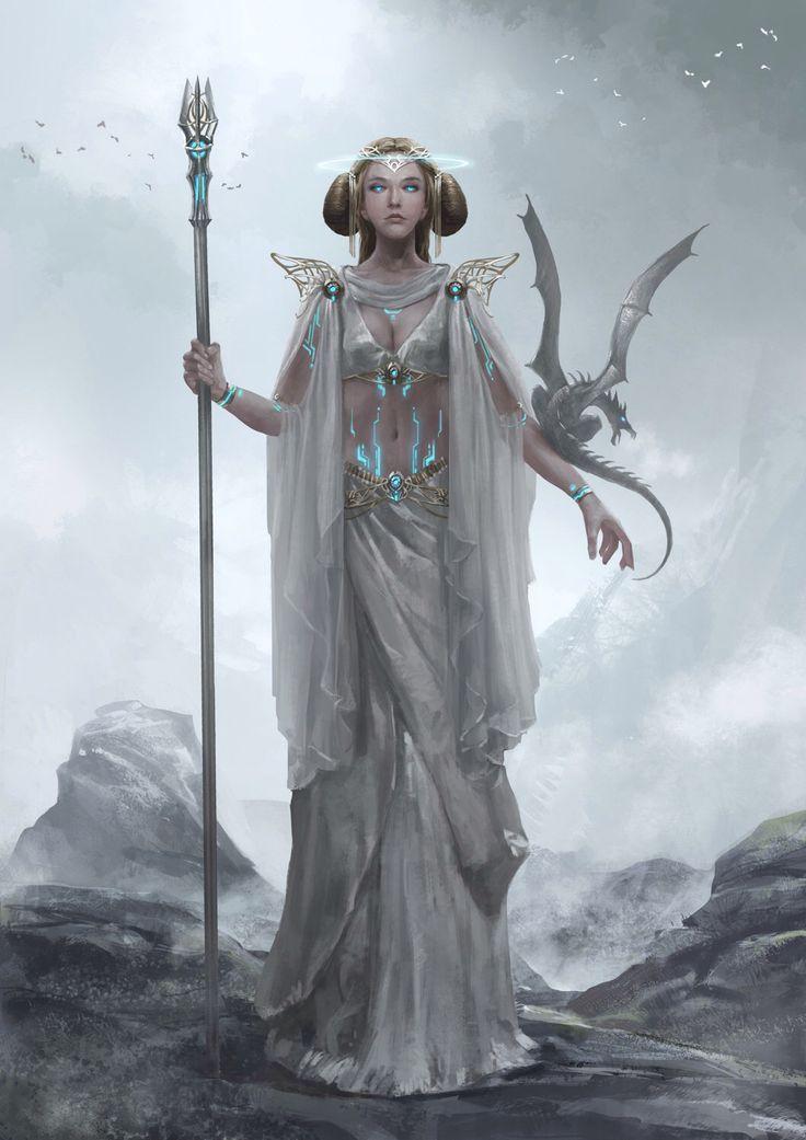 Anime Dragon Priestess Artstation   DRAGON   Fantasy art ...