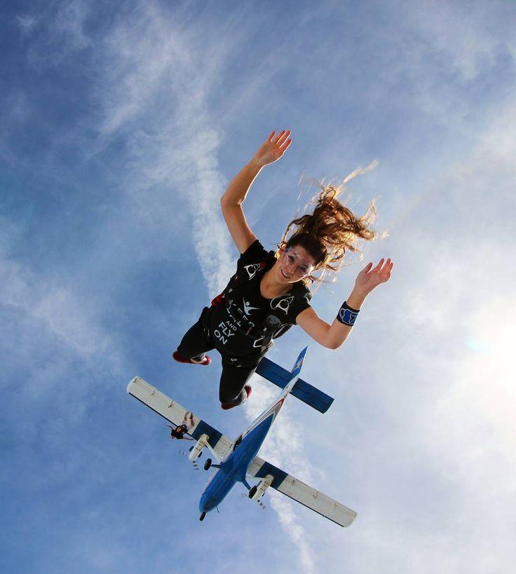 """"""" Adrena_lady: Stephanie Garza  Insta: xxxxx ✈ Jumps: 58  Canopy: Sabre 2 170 ☁ DropZone : Skydive Spaceland @skydivespaceland  Photo Credits:…"""""""