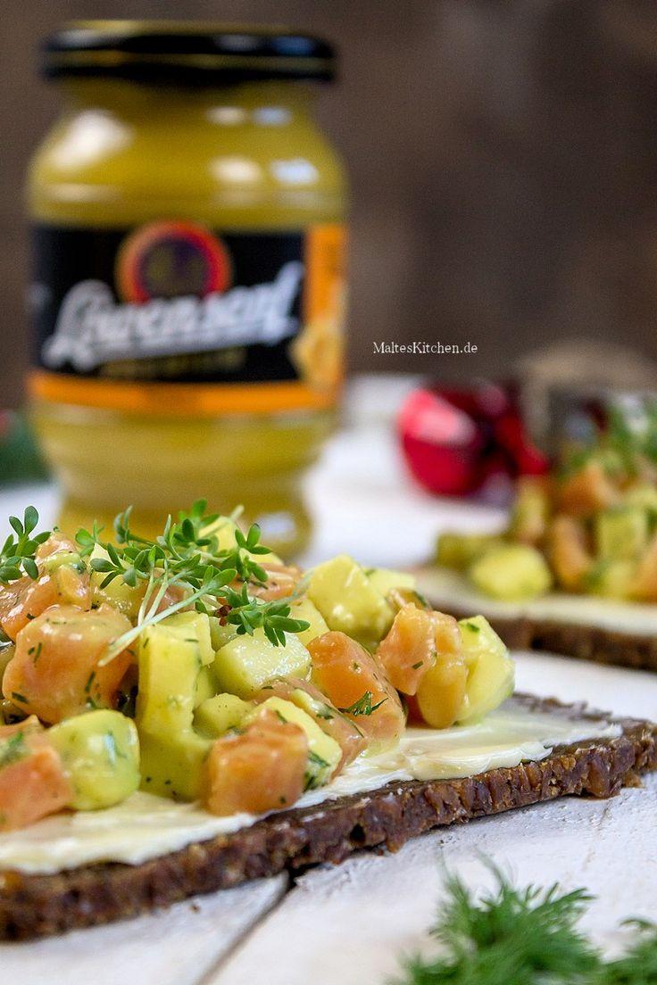 Tatar vom Lachs & Avocado in Honig-Senf-Marinade. Tolle Vorspeise für Weihnachten. | malteskitchen.de