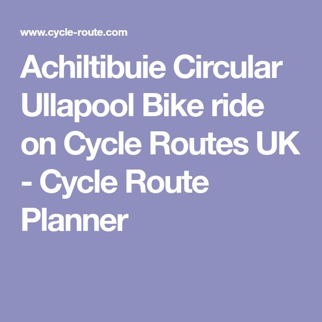 Achiltibuie Circular Ullapool Bike ride on Cycle Routes UK - Cycle Route Planner