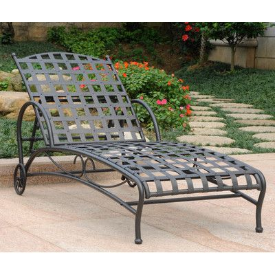 Santa Fe Chaise Lounge Chair Finish: Antique Black - http://delanico.com/chaise-lounges/santa-fe-chaise-lounge-chair-finish-antique-black-549993826/