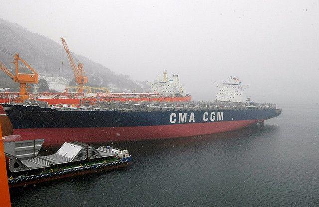 Sungdong Shipyards South Korea Container Vessel CMA CGM Labelais