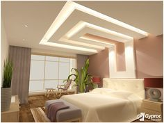 gyproc falseceiling can completely change your bedroom give it a refined false ceiling designpop - Bedroom False Ceiling Designs