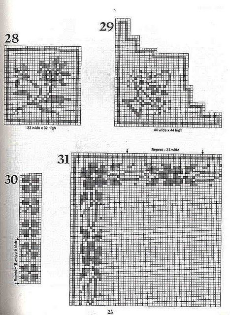 101 Filet Crochet Charts 23