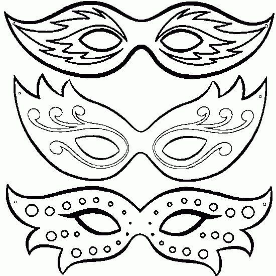 dessin de coloriage,masque,carnaval,loup,gratuit