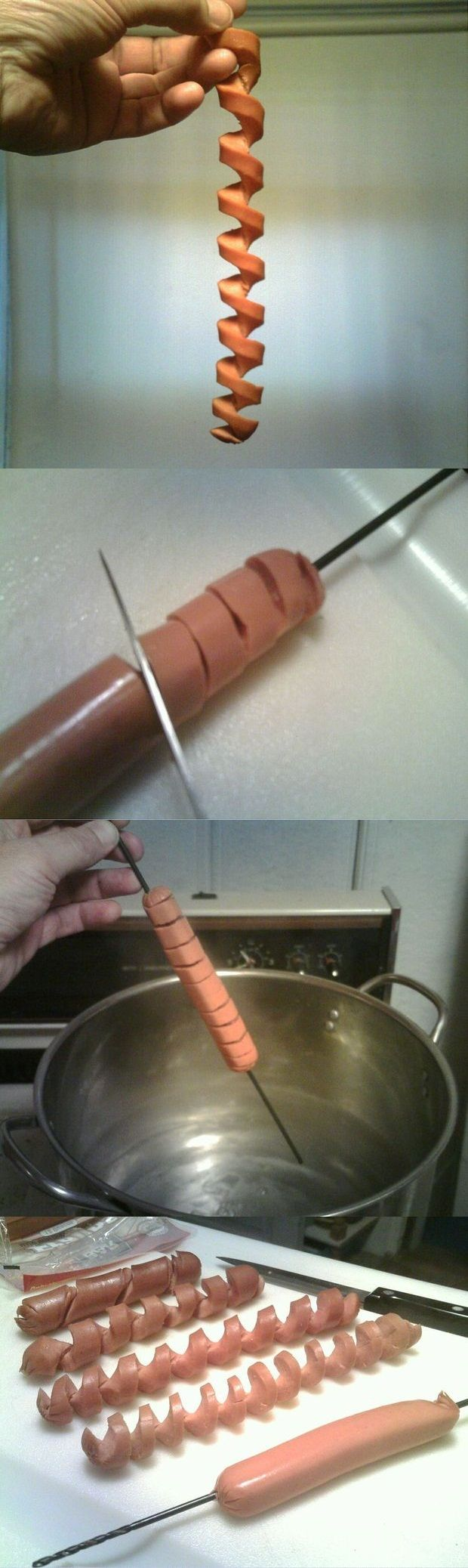 Spiral Cut Hot Dog...