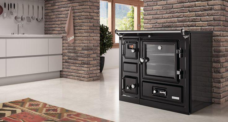 Hergom - Estufas, hogares y chimeneas de hierro fundido para leña y gas. Europa América - Saja 8 Calefactora