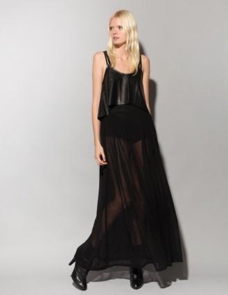 MINKPINK black sheer maxi skirt.