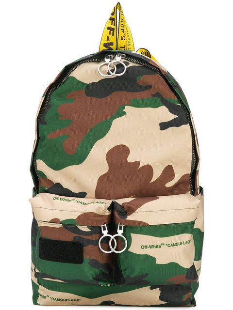00659607e8e9 Off-White Camouflage Backpack - Farfetch | Men fashion | Camouflage ...