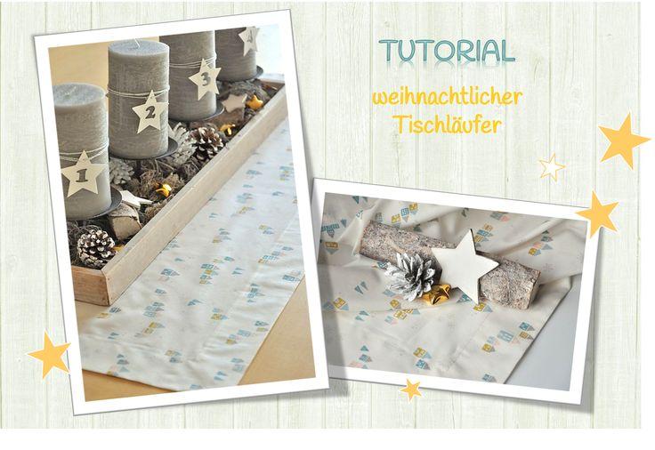 TUTORIAL! Weihnachtsdeko - Tischläufer mit Briefecken nähen