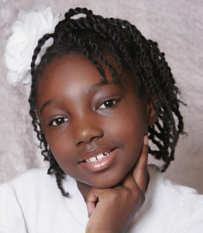 Natural Braid And Twist Out Black Children Hairstyles