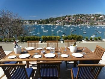 Darling Point - this apartment has one of the best views from the outside patio with direct views over Double Bay.
