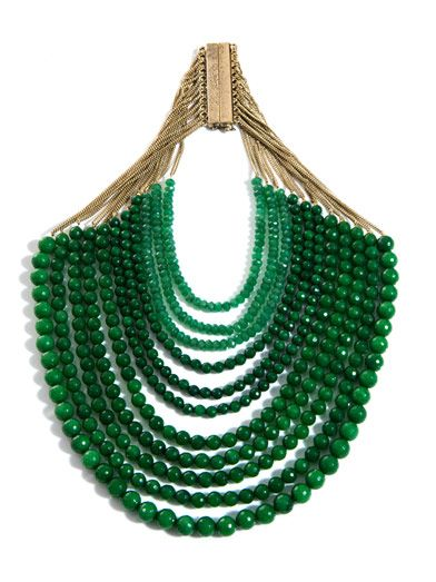 Rosantica Raissa jade and 24 carat gold necklace WOR0NE810021GRE