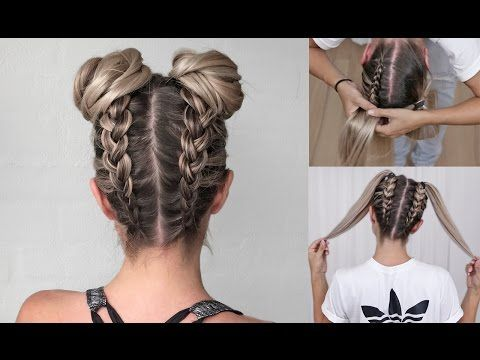 Cute Double Bun Hair Tutorial - YouTube