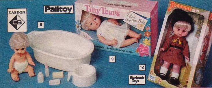 "Toys And Tears : Tiny tears palitoys ""tiny baby doll drinks cries"