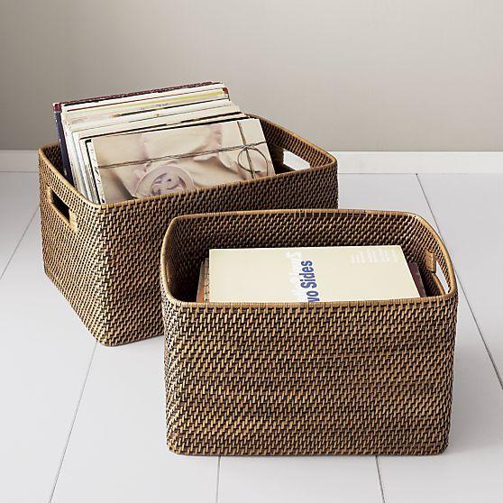 Beautiful Sedona Totes In Storage Baskets, Bins | Crate And Barrel
