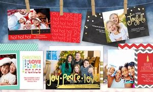 Groupon - 50 or 100 Custom Holiday Cards from Staples (77% Off) in [missing {{location}} value]. Groupon deal price: $10