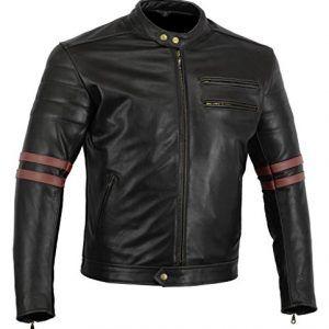Bikers-Gear-UK-chaqueta-moto-Cafe-Racer-en-color-negro-envejecido-y-rojo-oxbloow-con-protecciones-homologadas-y-extrables-talla-M-0
