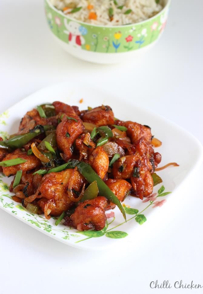 chilli chicken recipe, restaurant style dry chilli chicken recipe. Learn how to make the best Indo chinese chilli chicken with step by step photos