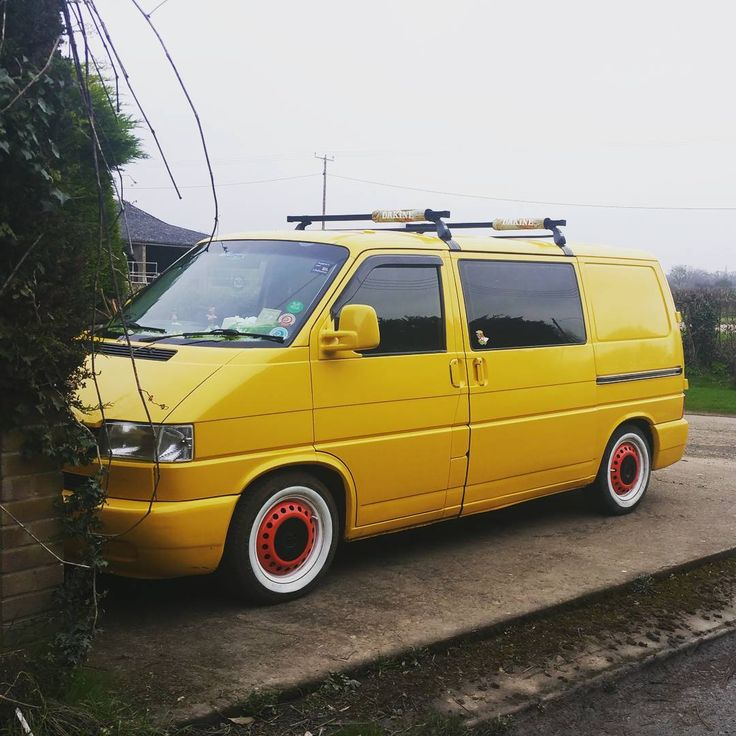 Thinking of a change with the van. It looks cool being low but can't go to place I have been before I lowered it so thinking of lifting it back up and fitting some all terrain tyres. Got some spare steelies at home that I will paint yellow and put on. After all its a adventure van not a scene prick posing van. #vwt4 #vanlife #vwtransporter #adventurevan #vwcamper #yellowvw #homeiswhereyouparkit #exploring #getoutdoors #vdub #camperconversion #whitewalls #static #vanlifediaries