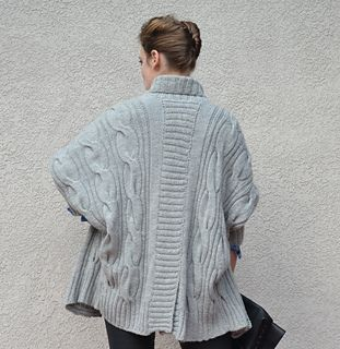 Knitting Pattern Name: Grey Dolman Cardigan Pattern by: Irina Anikeeva