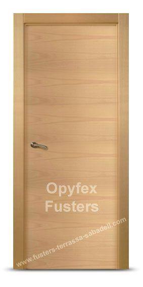 Puerta de madera para interior maciza modelo rub precio for Precio puertas interior madera maciza