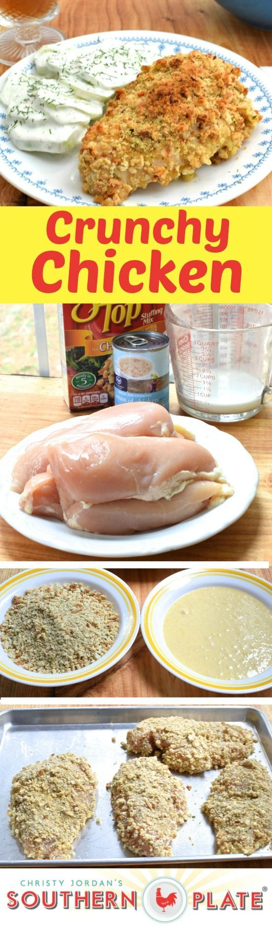 Easy Recipe For Crunchy and Flavorful Boneless Skinless Chicken Breasts! #easy #recipes #chicken #maindish
