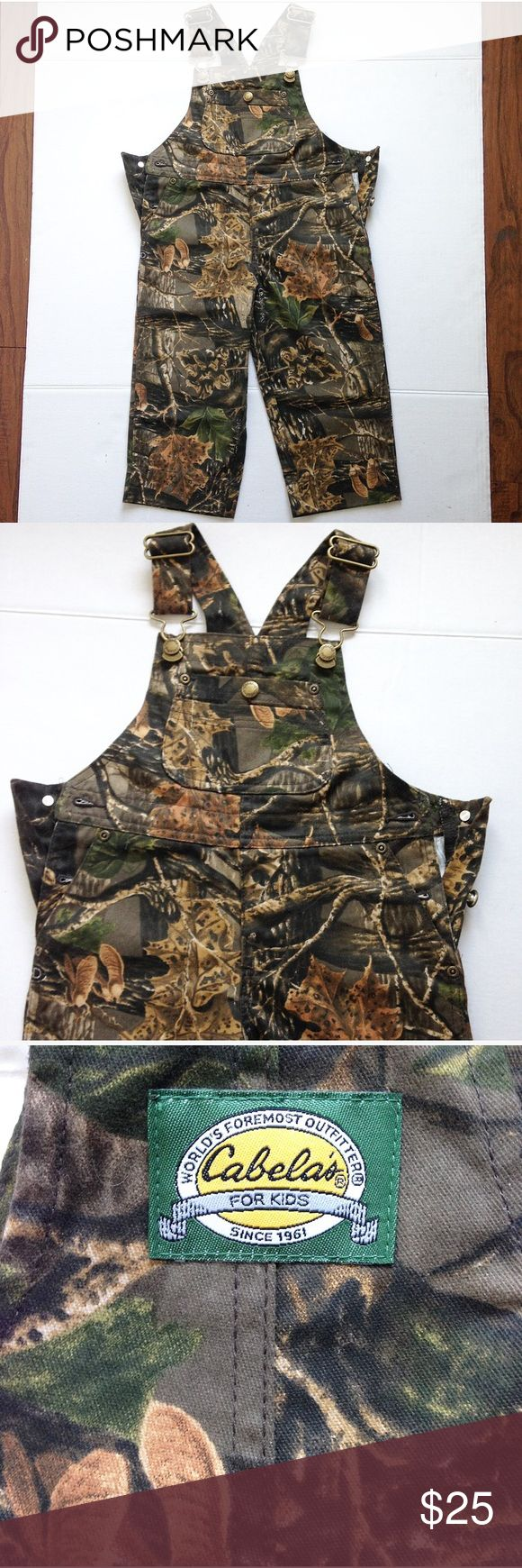 NWOT Kids size 2T camouflage overalls New without tags! Never worn! Cabelas kids! Size 2T camouflage jumper overalls Bottoms Jumpsuits & Rompers