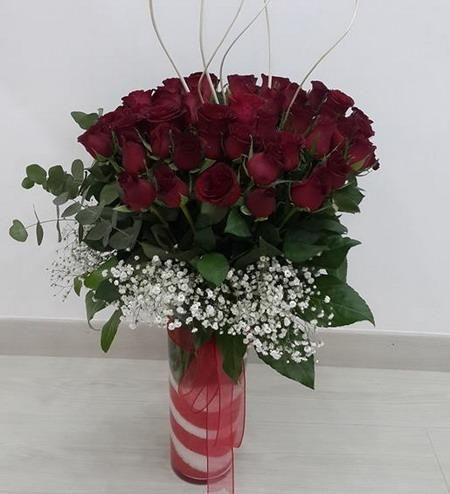 50 Tane Kırmızı Gül, Ürün Kodu : NzA 242  Kdv Dahil: 236,00 TL Bonus Cart'a 12 Taksit Gül Kırmızı : 50 Adet, Çiçeği Satın Almak İçin Resmin Üstüne Tıklayın..
