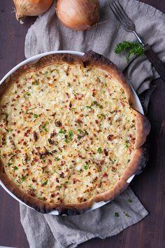 Low Carb Zwiebelkuchen. Schnell, leicht und super köstlich - kochkarussell.com