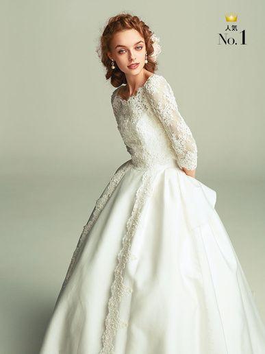 ラ レンヌ(La Reine)  繊細なレースが花嫁を優しく上品に包み込んで