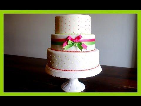 Stabiles stapeln von Torten - Etagentorten stapeln - von Kuchenfee - YouTube