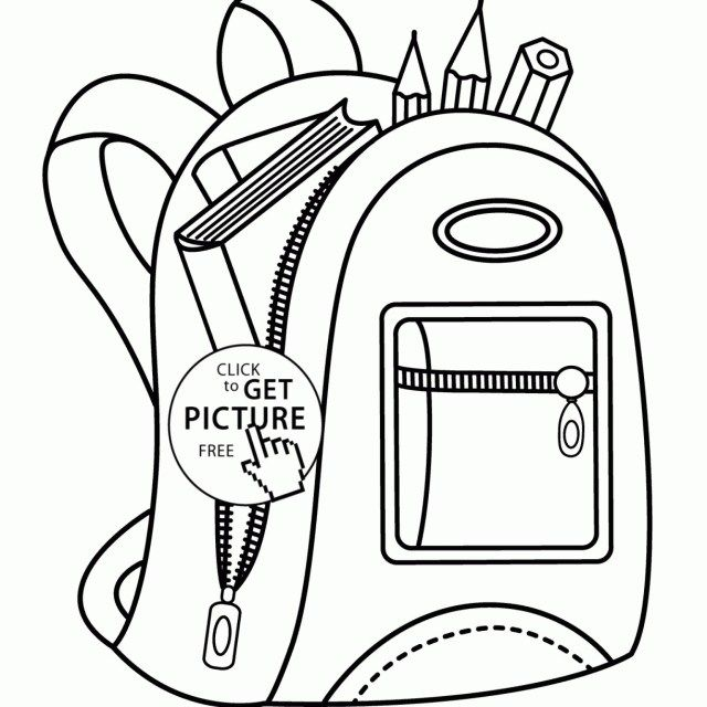 Beautiful Photo Of Backpack Coloring Page Entitlementtrap Com School Coloring Pages Coloring Pages Coloring Pages For Kids