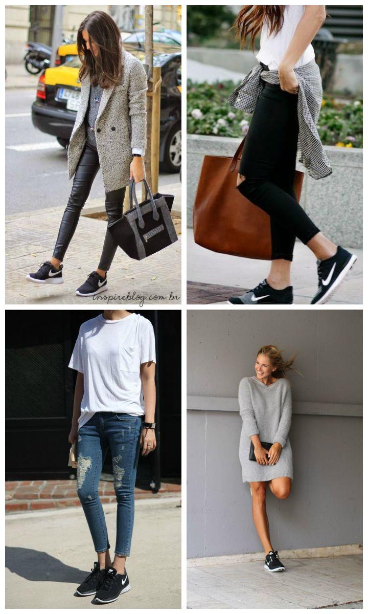 Looks com tênis preto - Inspire Blog
