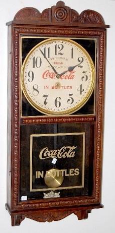 Oak Coca Cola Advertising Wall Regulator Clock