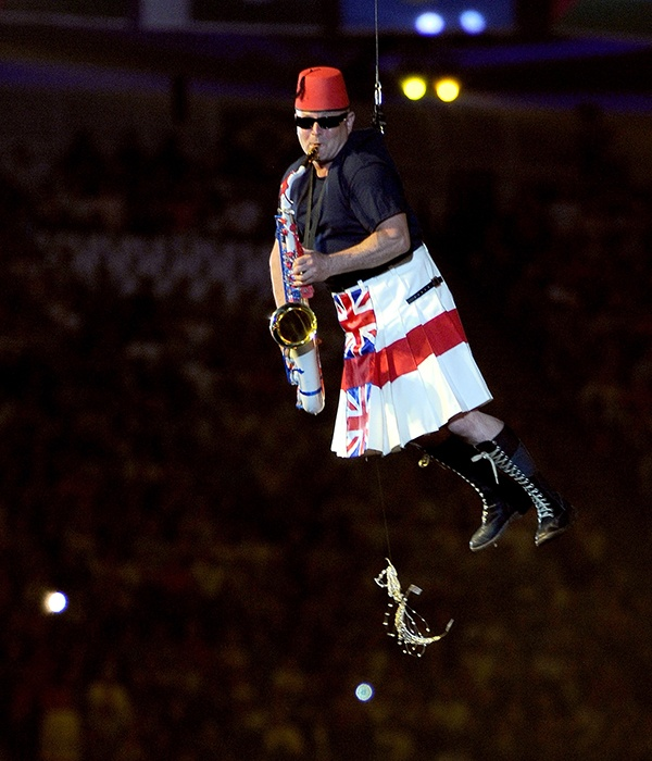 Lee Thompson of Madness performs during the Closing Ceremony on Day 16 of the London 2012 Olympic Games at Olympic Stadium on August 12, 2012 in London, England. (Photo by Pascal Le Segretain/Getty Images)