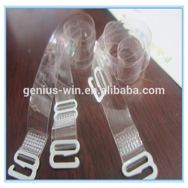 1cm transparent Invisible multiway clear back bra stap silicon Clear Back Strap Bra