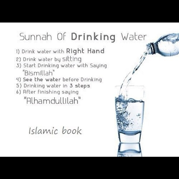 Sunnah of Drinking Water