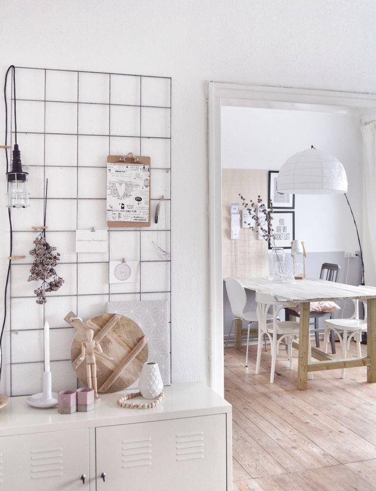 Lampe + Drahtgitter